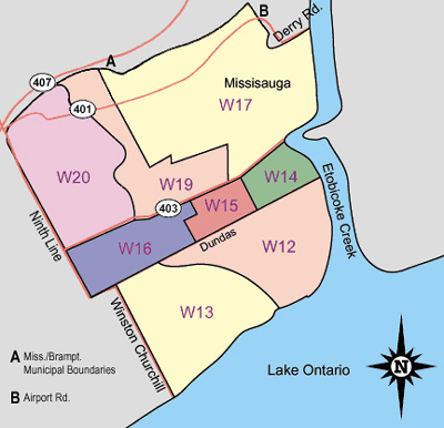 Mississauga Ontario Real Estate Areas Covered